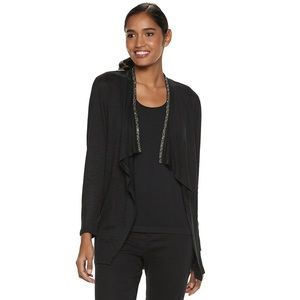 NWT Juicy Couture Embellished Open-Front Cardigan